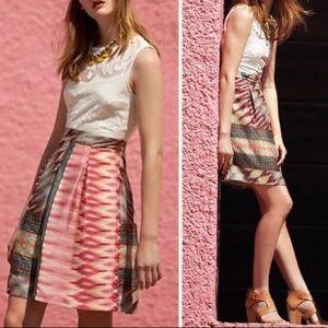 Weston sleeveless cream lace mixed print dress